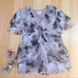 SUNDANCE silk watercolor blouse, S.
